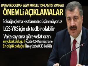 Sağlık Bakanı Fahrettin Koca: 'Sokağa çıkma kısıtlaması düşünmüyoruz'