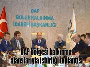 Sanayi ve Teknoloji Bakanlığı Kalkınma Ajansları Genel Müdürlüğüne bağlı DAP İdaresi ile Kalkınma Ajansları arasında koordinasyon ve işbirliği toplantısı yapıldı.
