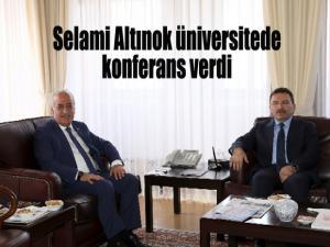 Selami Altınok, Atatürk Üniversitesi'nde konferans verdi