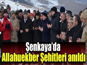 Şenkaya'da Allahuekber Şehitleri anıldı