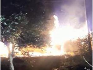 Şenkaya'da yangın