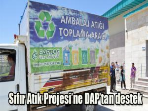 Sıfır Atık Projesi'ne DAP'tan destek