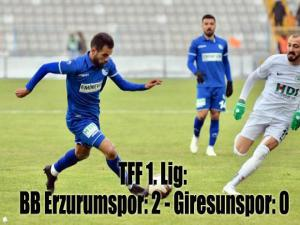TFF 1. Lig: BB Erzurumspor: 2 - Giresunspor: 0
