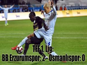 TFF 1. Lig: BB Erzurumspor: 2 - Osmanlıspor: 0