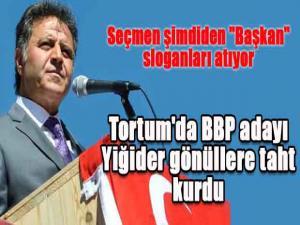 Tortum'da BBP adayı Yiğider gönüllere taht kurdu