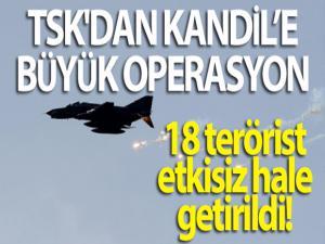 TSK'dan Kandil'e büyük operasyon: 18 PKK'lı terörist etkisiz hale getirildi