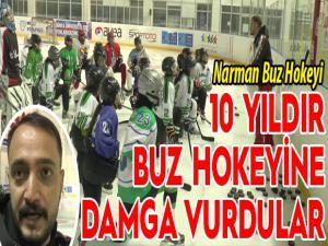 Türkiye'de 10 yıldır buz hokeyine damga vurdular