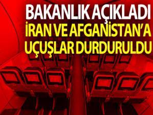 Türkiye, İran ve Afganistan'a uçuşları askıya aldı