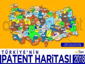 Türkiye'nin 2018 yılı patent haritası