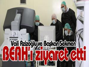 Vali Azizoğlu ve Başkan Sekmen BEAH'ı ziyaret etti