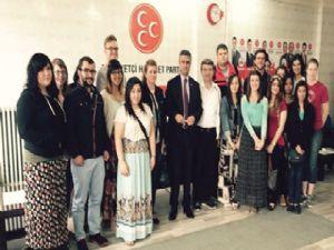 Amerikalı öğrencilerden Kamil Aydın'a ziyaret