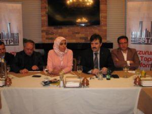 Erzurum Sivil Toplum Platformu Zehra Taşkesenlioğlu'nu İş Dünyası İle Buluşturdu