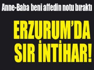 Erzurum'da sır intihar!