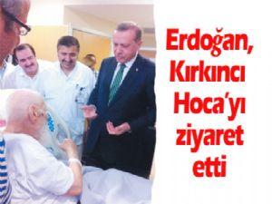 Cumhurbaşkanı Recep Tayyip Erdoğan hastanede tedavi gören Mehmet Kırkıncı Hocaefendiyi ziyaret etti.