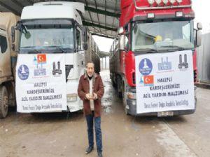 ESTP Başkanı Güvenli:  Yardım TIR'ları sınırı geçti