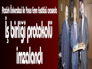 Atatürk Üniversitesi ile Yunus Emre Enstitüsü arasında iş birliği protokolü imzalandı