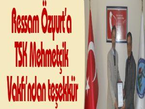Ressam Özyurt'a TSK Mehmetçik Vakfı'ndan teşekkür