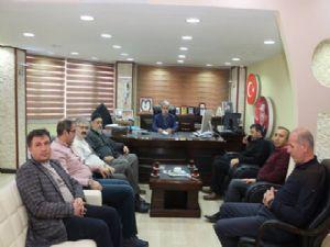 MÜSİAD yönetimi haftalık olağan toplantısını Oltu'da yaptı