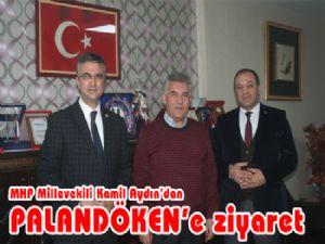 MHP Milletvekili Kamil Aydın Palandöken Gazetesi'ni ziyaret etti.