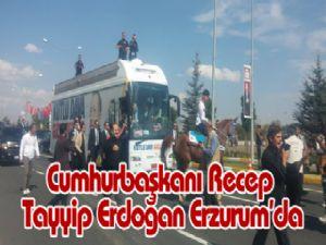 Cumhurbaşkanı Recep Tayyip Erdoğan Erzurum'da
