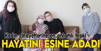 9 yıldır yürüyemeyen hasta eşine hayatını adadı
