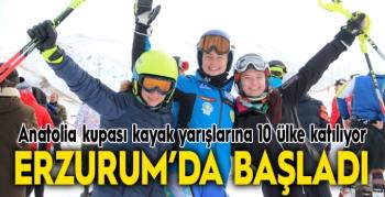 Anatolia kupası kayak yarışları 10 ülkenin katılımıyla Erzurum'da başladı