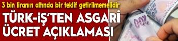 Atalay: Asgari ücretle ilgili 3 bin liranın altında bir teklif getirilmemelidir