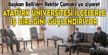 Atatürk Üniversitesi ilçelerle iş birliğini güçlendiriyor