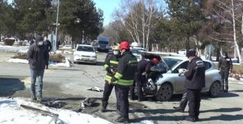 Atatürk Üniversitesi kampüsünde trafik kazası: 3 yaralı