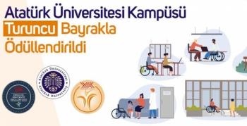 Atatürk Üniversitesi kampüsüne turuncu bayrak