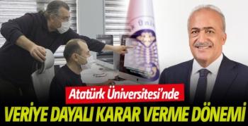 Atatürk Üniversitesi veriye dayalı karar verme sürecine başladı