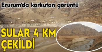 Ayvalı Barajı'nda sular 4 kilometre çekildi