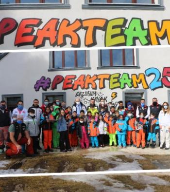 Aziziyeli miniklere kayak eğitimi verildi