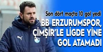 BB Erzurumspor, Çimşir'le ligde yine gol atamadı