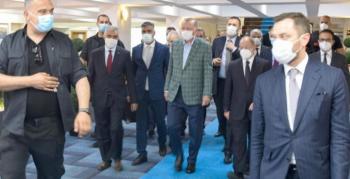 Cumhurbaşkanı Erdoğan Büyükşehir Belediyesi'ni ziyaret etti