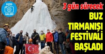 Erzurum'da buz tırmanışı festivali
