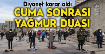 Erzurum'da cuma namazı sonrası yağmur duası