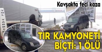 Erzurum'da feci kaza: 1 ölü, 2 yaralı