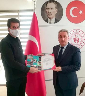 Erzurum GSİM'e Curling teşekkürü