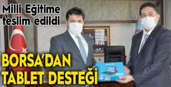 Erzurum Ticaret Borsası'ndan ihtiyaçlı çocuklara tablet desteği