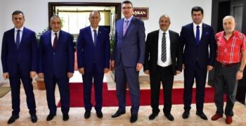 Erzurum Yargı Kademesinden ESOB'a veda ziyareti