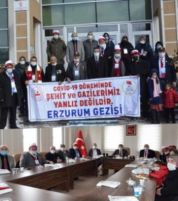 Göleli Şehit aileleri ve Gazilerden Erzurum ziyareti