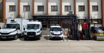 Horasan Belediyesine 6 yeni araç