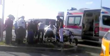 Kırmızı ışık ihlali kazayı beraberinde getirdi: 2 yaralı