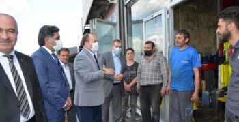 MHP'den sanayi esnafına ziyaret