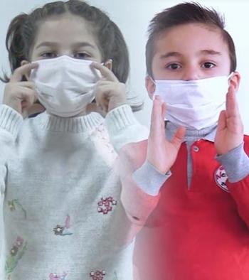 Minikler işaret diliyle korona virüse dikkat çekiyor