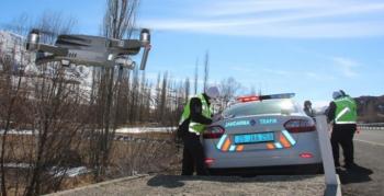 Oltu Jandarmadan drone destekli uygulama