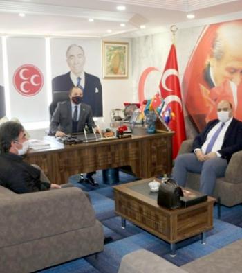 Orhan'dan MHP İl Başkanlığı'na ziyaret