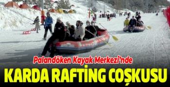 Palandöken Kayak Merkezi'nde kar raftingi coşkusu