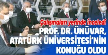 Prof. Dr. Necdet Ünüvar, Atatürk Üniversitesinin konuğu oldu